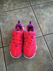 The girls Jordan sneakers. Brand new. Size: 4Y