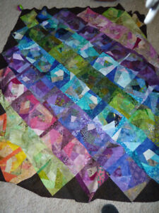Quilt top and backing.