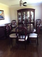 3 piece dark cherry dining room set