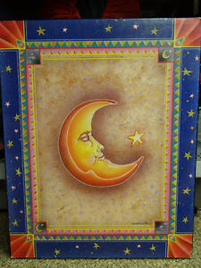 MOON AND STAR WOODEN PICTURE