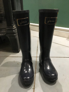 Joules High Kids Rain Boots (Posh Wellies) Navy Size 5 / UK 36