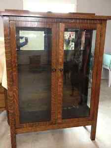 Antique Mission style cabinet