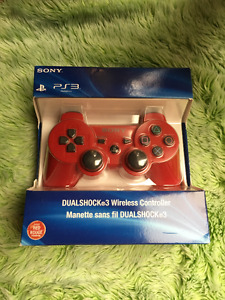Brand New Red PS3 Wireless Controller.