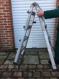 ADJUSTABLE LADDER - heavy duty aluminium multi function