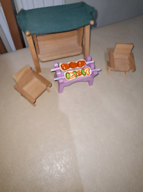 Various dolls house furniture sets £3.50
