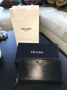 New PRADA black wallet - never used in box - GREAT DEAL - $550