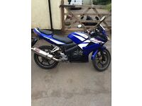 BLUE Honda CBR 125 2007