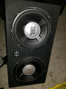 JBL 2*12inch subwoofer with enclosure