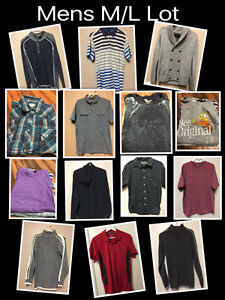 Mens M/L Brand name Lot - will not separate- FCFS-