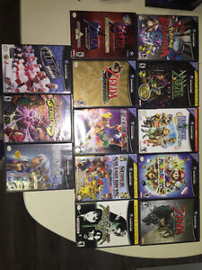 GameCube, controllers, and variety of games.