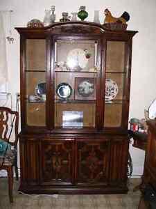 Nice wood china cabinet