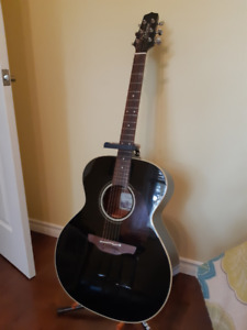 Takamine EF241S Acoustic Electric Guitar - Black, Mint Condition