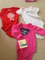 Little sister short sleeve and long sleeve onesies