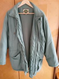 Vintage Mens Winter Coat Large Green
