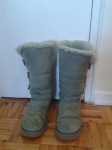 UGG light bkue winter boots,size 8