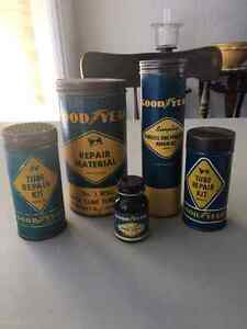 Good Year, Dominion Royal, Gutta Percha, Western Repair Kit Tins