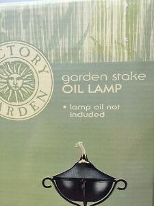 2 Victory Garden, Garden Stake Outdoor Oil Lamps