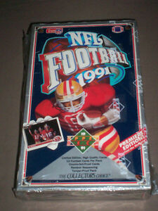 4 SEALED BOXES OF 1991 NFL FOOTBALL CARDS BRETT FARVE ROOKIE