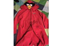 Boys next red angry birds onesie pyjama suit age 6