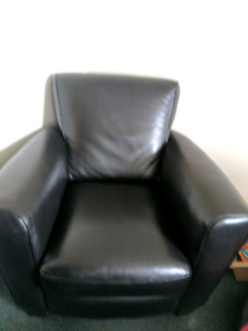 Italian leather chair for sale