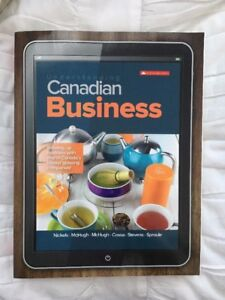 Understanding Canadian Business 9th edition