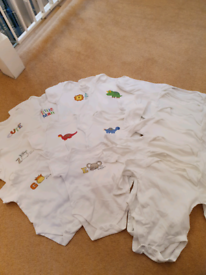 Set of 9 and 7 , 6 to 9 months short and long sleeves sleepsuits