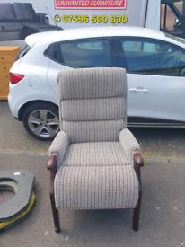 44. Grey fireside chair