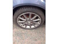 "Lexus is200 17"" alloy wheel set facelift 225 45 r17 tyres 98-05 is 200 honda mazda jdm"