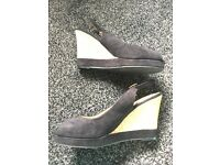Matalan heel wedges size 5 worn once