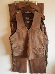 HARLEY DAVIDSON SCREAMING EAGLE TAN LEATHER MOTORCYCLE OUTFIT XL