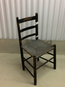Antique Ladder Back Chair From 1800s – Reduced Price NOW $20.00