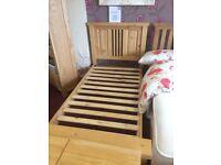Single bed frame & 2 lockers