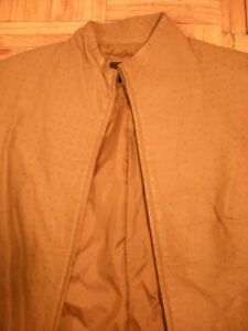 Urgent New Express Ostrid leather Zip up jacket sz S-M stand col