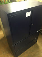 Metal cabinet storage with drawers, locking with keys