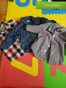 3-6 month button up shirts