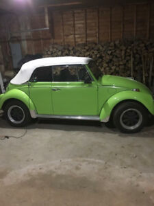 Antique Volkswagen Beetle Convertible