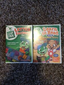 Leap Frog Letter Factory and Storybook factory dvd's