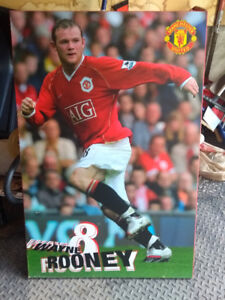 Wayne Rooney Manchester United Mounted Poster