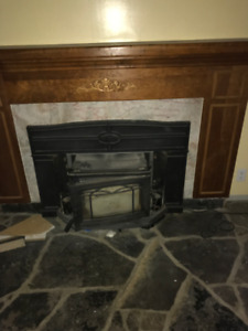 Fireplace Wood Burning  insert  ...With Mantle