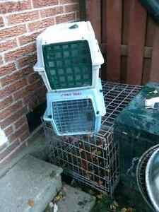 2 pet crates and a dog kennel London Ontario image 1
