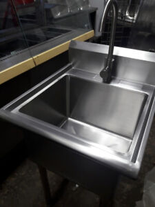 New 1 compartment sink w/ faucets