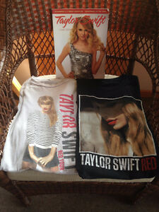Girls Youth Taylor Swift Concert Tops - Lot of 2 w/Book