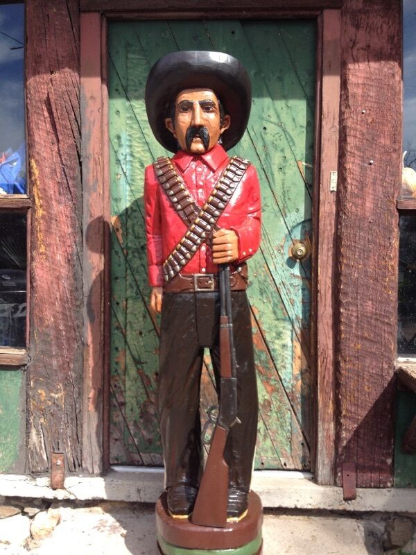 John Gallagher Carved Wooden Bandito 5 ft.Tall Cigar Store Indian Statue