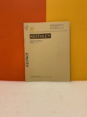 Keithley Model 156 Null Detectormicrovoltmeter Instruction Manual
