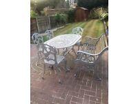 Cast iron garden furniture patio set