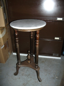 MARBLE TOP LAMP TABLES
