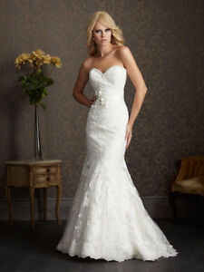 Lace Fit-and-Flare Wedding Dress - Allure Bridals 2501 St. John's Newfoundland image 1