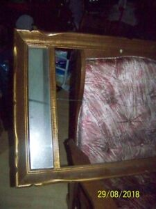 Old picture frame with side light mirrows