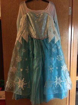 Authentic NWT DISNEY PARKS Frozen Queen Princess ELSA Dress COSTUME SZ 11/12