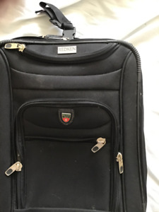 Luggage - Small Black Suitcase - Redken NYC / Roots Canada Brand